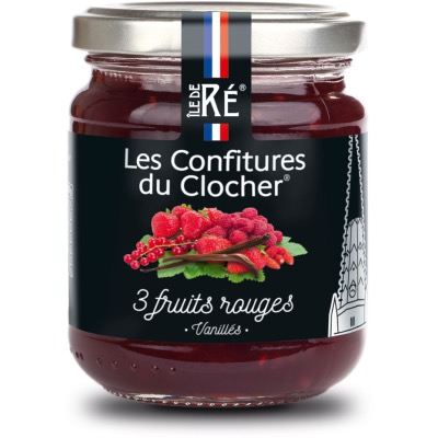 Confiture aux 3 Fruits Rouges Vanillés